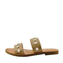 Soda Gills S Beige Women's Open Toe Dual Strap Embellished Sandals - $24.95+