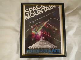 Disney Space Mountain Tomorrowland Disneyland Lithograph Framed - $12.38