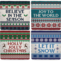 "Christmas Sweater Square 4"" Absorbent Coaster Set - $9.47"