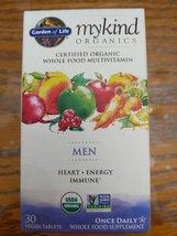 Garden of Life Mykind Organics Men's Multivitamins, 30 Count - $16.50