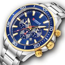 CURREN 8309 Business Style Full Steel Men Wrist Watch Date Display Quartz Watch - $29.02