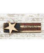 "Patriotic LATH ""AMERICA"" FLAG w/ WOOD STAR Country Farmhouse Americana P... - $29.99"