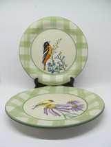 Lenox Summer Greetings Dinner plates Goldfinch and Baltimore Oriole bund... - $33.32