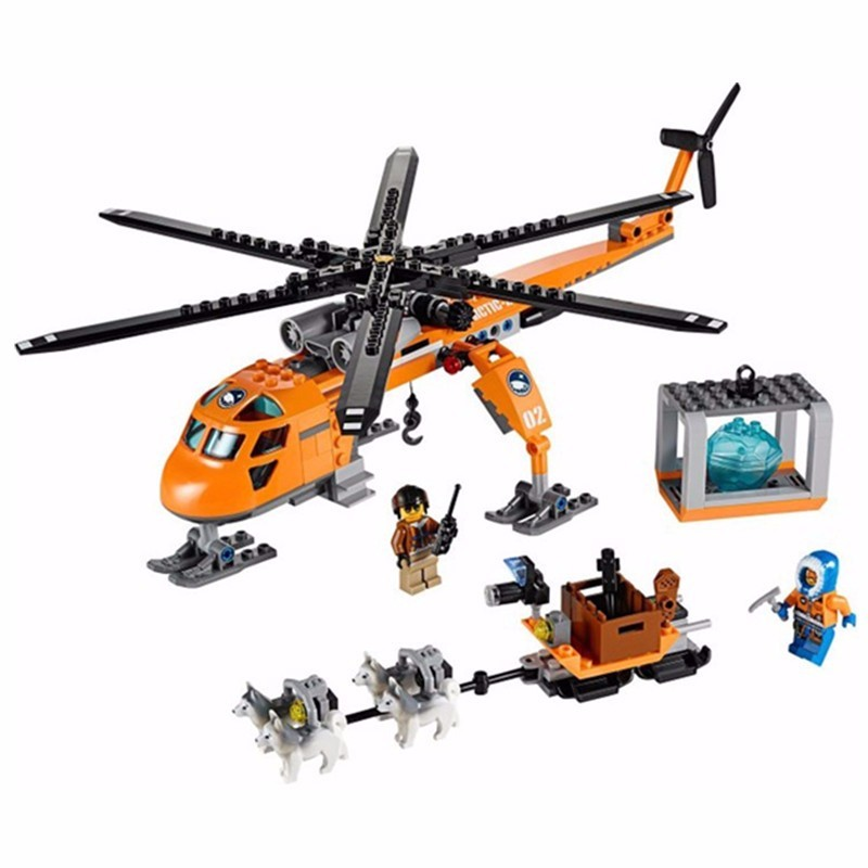 City Series Arctic Helicrane Model building Fit Lego city 3D blocks toys, used for sale  USA