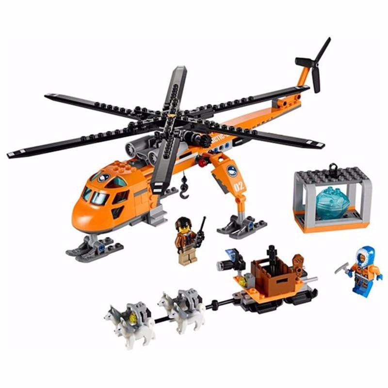 City Series Arctic Helicrane Model building Fit Lego city 3D blocks toys for sale  USA