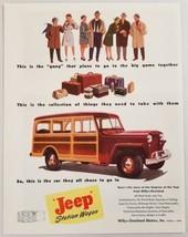 1948 Print Ad Jeep Woody Station Wagon Willys-Overland Toledo,Ohio - $19.78