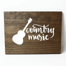 Country Music Solid Pine Wood Wall Plaque Sign Home Decor - $34.16