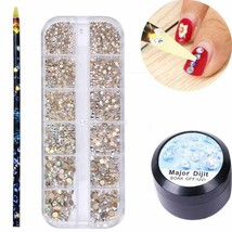 NailPreety® New Rhinestone Acrylic UV Super Sticky Gel Kit Professional ... - $8.16