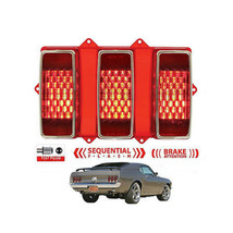 69 Ford Mustang Red LED Sequential Rear Tail Turn Signal Brake Light Lam... - $79.95