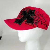 Kbethos Women's Cap Hat Cross Embellished Pink One Size Adjustable  - $11.87
