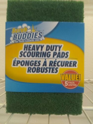 5 Pack  Scrub Buddies Heavy Duty Scouring Pads- scrubbing pads-(one 5 pack)
