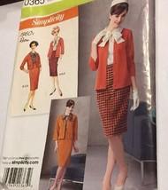 Simplicity 0365 Jacket Blouse Skirt Knit Cardigan Misses 6 -14 Uncut Sew Pattern - $7.89