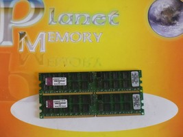 Kingston 8GB 2X4GB DDR2 PC2-5300 240-PIN Ram Ecc Reg Server KVR667D2D4P5/4gef - $13.84