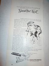 Vintage Gillette Techmatic It's Good Bye Nick Print Magazine Advertisement 1973 - $4.99