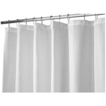 InterDesign Carlton Soft Fabric Shower Curtain, Long 72 x 84, White - $15.62