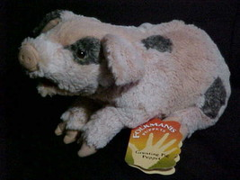 "13"" Grunting Pig Puppet Plush Stuffed Toy With Tags By Folktails Folkmanis - $23.36"