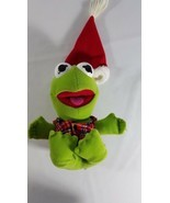 1987 Plush Christmas Baby Kermit Jim Hensen Muppets Sesame Street - $14.17 CAD