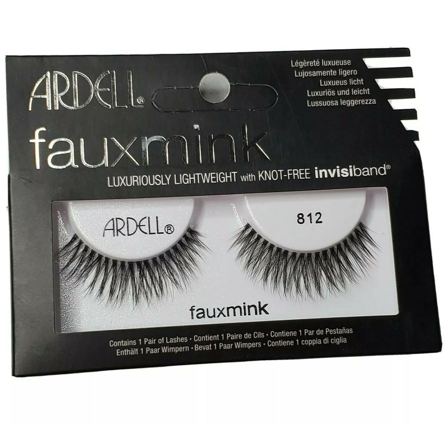 Ardell FauxMink Luxuriously Lightweight Lashes #812 Knot Free Invisiband - $11.76