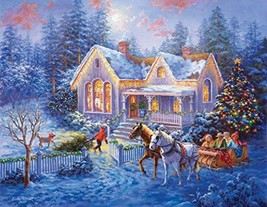 Welcome Home Nicky Boehme Winter Sleigh 1000 pc Jigsaw Puzzle New Sealed Box - $24.50