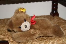 Steiff Floppy Bear 082108 1991 20 cm Red Bow - $148.88