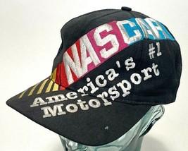 Vtg NASCAR Hat-America's #1 Motorsport-Embroidered-Charcoal-Snapback - $70.11