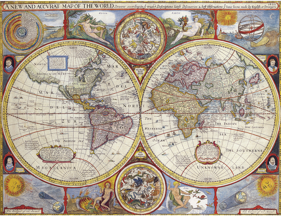 World map from 1628 poster canvas art and similar items world map from 1628 poster canvas art print a4 a3 a2 a1 new best and cheap gumiabroncs Choice Image