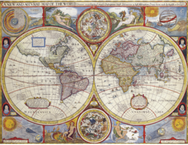 World Map from 1628 - Poster Canvas Art print A4 A3 A2 A1 new best and c... - $3.28+