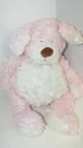 Baby Ganz Bellifuls puppy dog plush pink white rattle swirled fur USED - $9.89