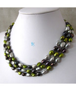 "50"" 7-8mm Multi Color Baroque Freshwater Pearl Necklace Fashion Jewelry - $20.32"