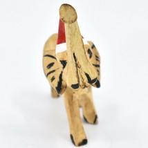 Hand Carved & Painted Jacaranda Wood Santa Hat Elephant Safari Christmas Figure image 2