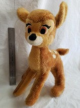Vtg Walt Disney Plush Bambi Poseable Fawn Deer 60s Character Stuffed Toy... - $30.67