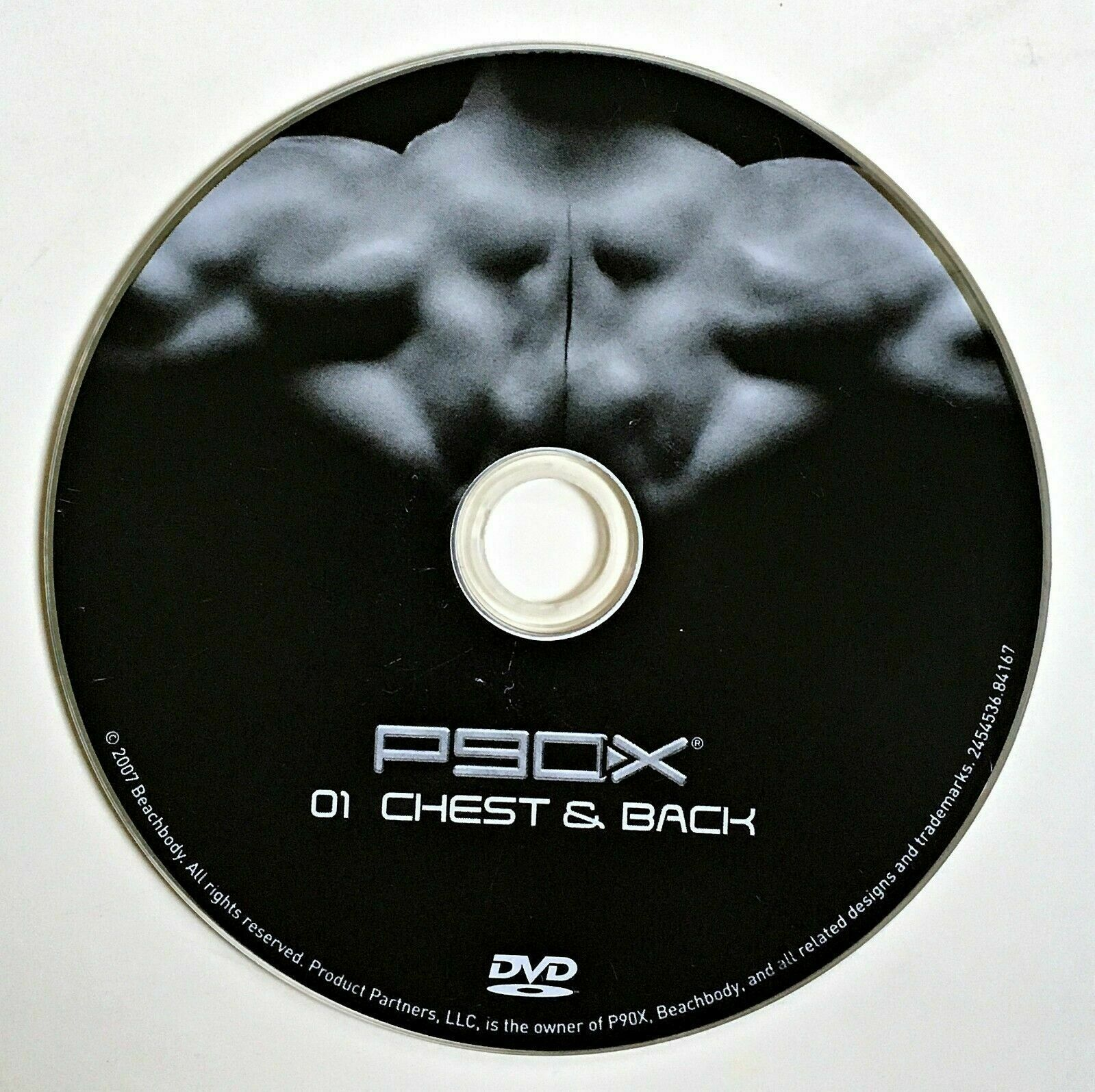 P90X Replacement DVD - 01 CHEST & BACK - Beachbody Extreme Home Fitness