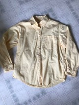 Eddie Bauer Sz XS Button-down Blouse Long Sleeve Yellow Front Pocket - $18.52