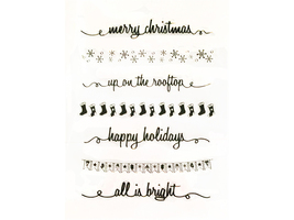 Clear Acrylic Holiday Border Stamps, Set of 6