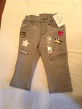 The Childrens Place Size 12 months to 18 months pants jegging gray Girls New - $10.99