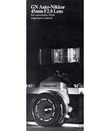 Nikkormat GN Auto Nikkor 454mm F2.8 Lens Brochure - $2.92