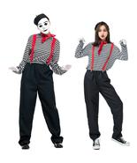 Adult Mime Couple Hilarious Dress-Up Performance Costume Perfect For Hal... - $52.44+