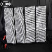 TOYPOPOR 4 Packs Bling Bling Seat Belt Shoulder Pads, Luster Crystal Car Seatbel