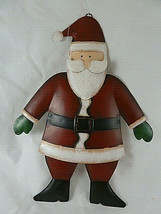 "9"" Tin Santa Claus Christmas Ornament double sided in exellent conditon ... - $11.87"