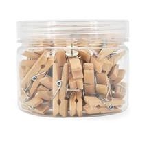 50pcs Push Pin Clips,Push Pins with Wooden Clips,Thumb Tacks Clips for D... - $10.52