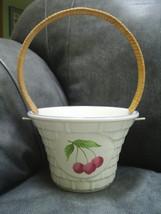 Pfaltzgraff GARDEN PARTY ceramic basket with wi... - $5.99