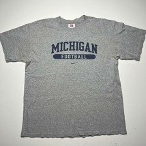 Vintage Y2k Nike Center Swoosh Michigan Football Spellout T Shirt Size X... - £17.94 GBP