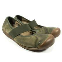 Keen Mary Jane Green Leather Slip On Hiking Flats Walking Loafer Shoes Size 7.5 - $37.79