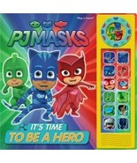 New PJ MASKS It's Time To Be A Hero PLAY-A-SOUND Board BOOK 2020 Free Sh... - $16.07