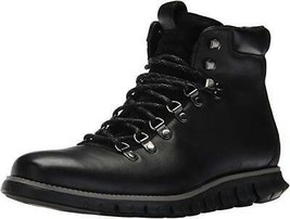 New in Box - $300 COLE HAAN ZeroGrand Black Hiker II Leather Boots Size 8.5 - $99.99