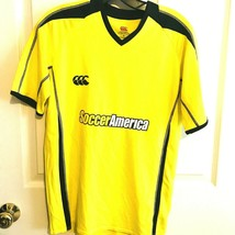 Canterbury Of New Zealand Soccer America #7 Men's Yellow Soccer Jersey S... - $27.15