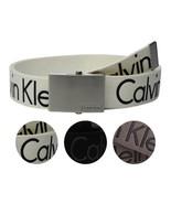 New Calvin Klein Men's Premium CK Logo Cotton Adjustable 38mm Canvas Bel... - $26.95