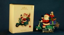 ORNAMENT Santa's Scooter 2007 HALLMARK KEEPSAKE Light Sound and Windup M... - $24.74