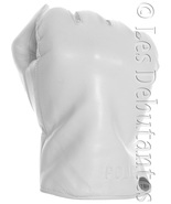 WHITE LEATHER POLICE GLOVES - $31.99