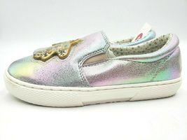 Chat & Jack Argent Irisé Gold Licorne Roana Filles Enfants Slip-On Chaussures image 3